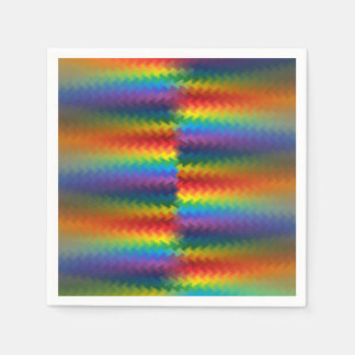 Rows of a Rainbow Fire Disposable Napkin