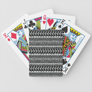 Rows of Black and White Doodle Patterns Bicycle Playing Cards