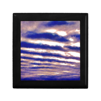 Rows of Clouds Small Square Gift Box