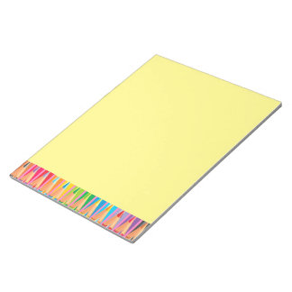 Rows of Colored Pencils Notepad