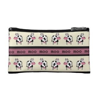 Rows of Cows Cosmetic Bag