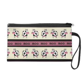 Rows of Cows Wristlet Clutches