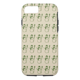 Rows of Cute Snowmen Vintage Holiday Season iPhone 8/7 Case