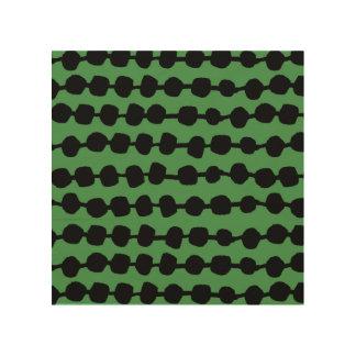 Rows Of Dots Green/Black/ Andrea Lauren Wood Canvas