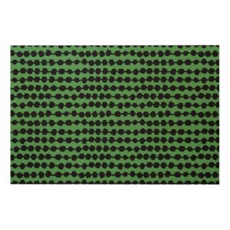 Rows Of Dots Green/Black/ Andrea Lauren Wood Canvases
