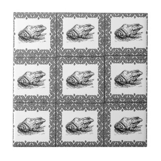 rows of frogs tile