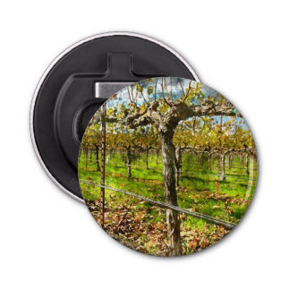 Rows of Grapevines in Napa Valley California Bottle Opener