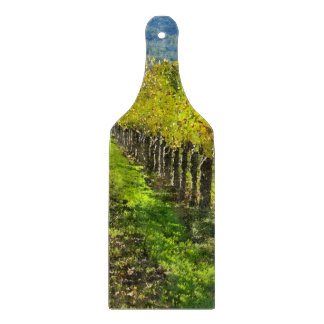 Rows of Grapevines in Napa Valley California Cutting Board