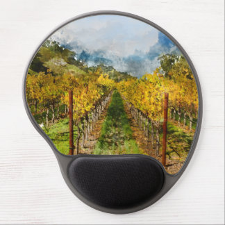 Rows of Grapevines in Napa Valley California Gel Mouse Pad