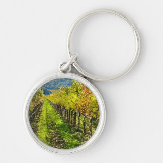 Rows of Grapevines in Napa Valley California Key Ring