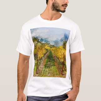 Rows of Grapevines in Napa Valley California T-Shirt