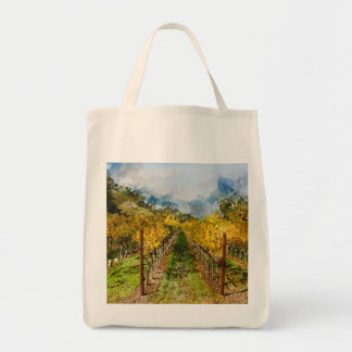 Rows of Grapevines in Napa Valley California Tote Bag