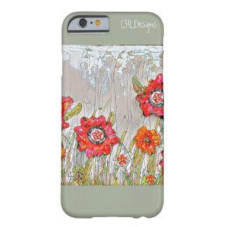 Rows of Poppies- Design 1 cellphone case