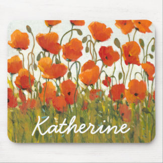 Rows of Poppies I Mouse Pad