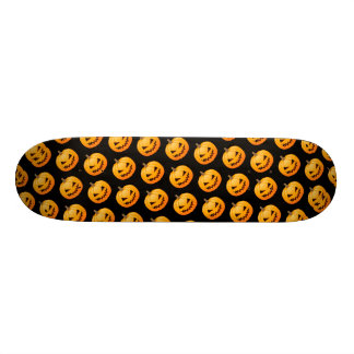 Rows of Spooky Halloween Pumpkins 21.6 Cm Old School Skateboard Deck