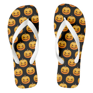 Rows of Spooky Halloween Pumpkins Thongs