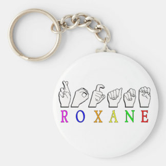 Roxane KEYCHAIN FINGERSPELLED ASL SIGN