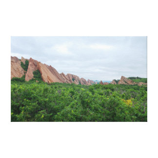 Roxborough Valley Woodland and Rock Forms Canvas Print
