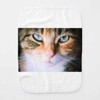 Roxie the cat burp cloth