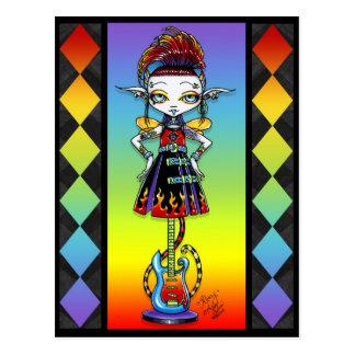 Roxsy Pixie Stick Psychobilly Rainbow Fae Postcard
