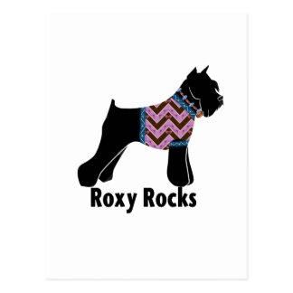 Roxy Rocks with chevron Tee shirt Postcard