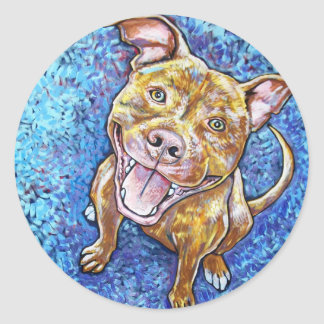 ROY the pitbull Classic Round Sticker