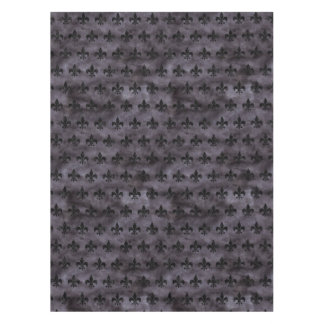 ROYAL1 BLACK MARBLE & BLACK WATERCOLOR TABLECLOTH