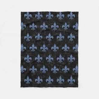 ROYAL1 BLACK MARBLE & BLUE DENIM (R) FLEECE BLANKET