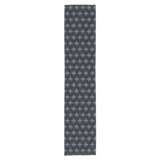ROYAL1 BLACK MARBLE & BLUE DENIM (R) SHORT TABLE RUNNER