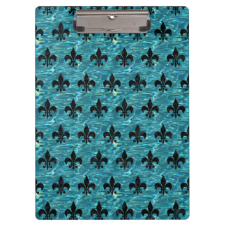 ROYAL1 BLACK MARBLE & BLUE-GREEN WATER CLIPBOARD