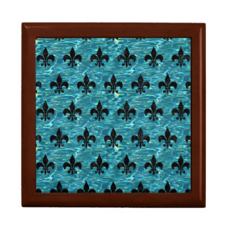ROYAL1 BLACK MARBLE & BLUE-GREEN WATER GIFT BOX