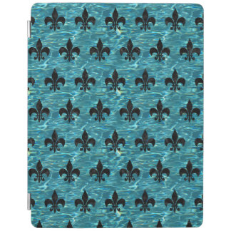 ROYAL1 BLACK MARBLE & BLUE-GREEN WATER iPad COVER