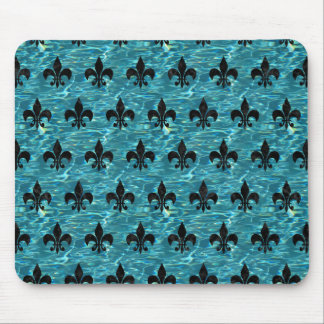 ROYAL1 BLACK MARBLE & BLUE-GREEN WATER MOUSE PAD