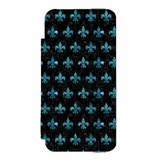 ROYAL1 BLACK MARBLE & BLUE-GREEN WATER (R) INCIPIO WATSON™ iPhone 5 WALLET CASE