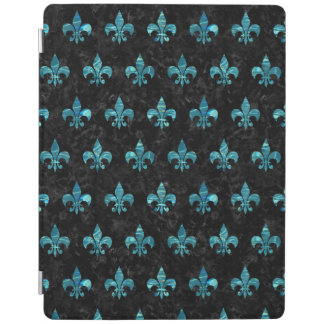 ROYAL1 BLACK MARBLE & BLUE-GREEN WATER (R) iPad COVER