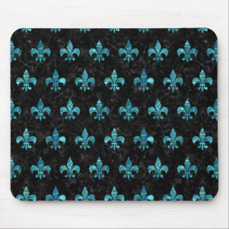 ROYAL1 BLACK MARBLE & BLUE-GREEN WATER (R) MOUSE PAD