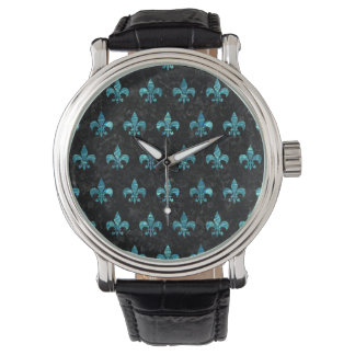 ROYAL1 BLACK MARBLE & BLUE-GREEN WATER (R) WATCH