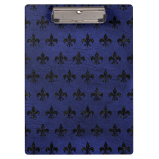 ROYAL1 BLACK MARBLE & BLUE LEATHER CLIPBOARD