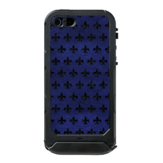 ROYAL1 BLACK MARBLE & BLUE LEATHER INCIPIO ATLAS ID™ iPhone 5 CASE
