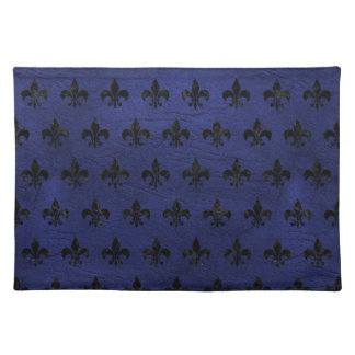 ROYAL1 BLACK MARBLE & BLUE LEATHER PLACEMAT