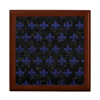 ROYAL1 BLACK MARBLE & BLUE LEATHER (R) GIFT BOX