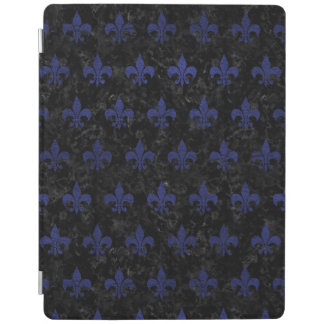 ROYAL1 BLACK MARBLE & BLUE LEATHER (R) iPad COVER