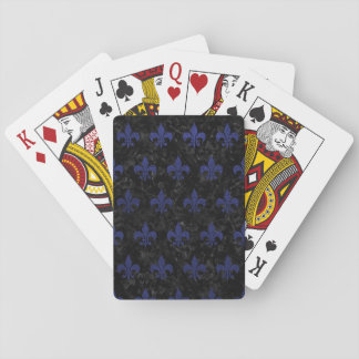 ROYAL1 BLACK MARBLE & BLUE LEATHER (R) PLAYING CARDS