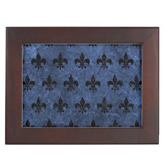 ROYAL1 BLACK MARBLE & BLUE STONE KEEPSAKE BOXES