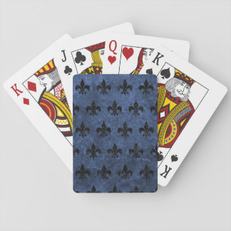 ROYAL1 BLACK MARBLE & BLUE STONE PLAYING CARDS