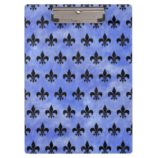 ROYAL1 BLACK MARBLE & BLUE WATERCOLOR CLIPBOARD
