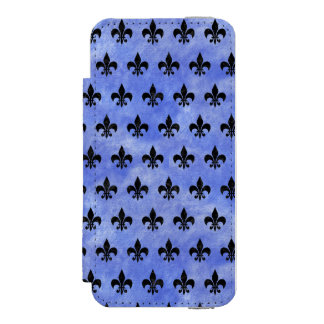 ROYAL1 BLACK MARBLE & BLUE WATERCOLOR INCIPIO WATSON™ iPhone 5 WALLET CASE