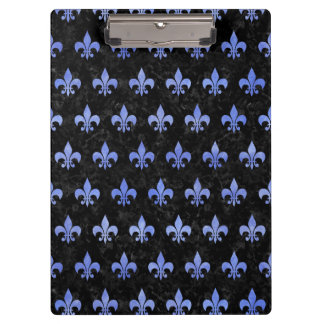 ROYAL1 BLACK MARBLE & BLUE WATERCOLOR (R) CLIPBOARD