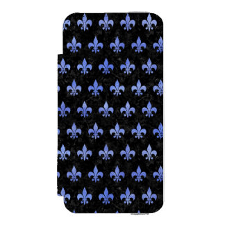 ROYAL1 BLACK MARBLE & BLUE WATERCOLOR (R) INCIPIO WATSON™ iPhone 5 WALLET CASE