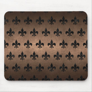 ROYAL1 BLACK MARBLE & BRONZE METAL MOUSE PAD